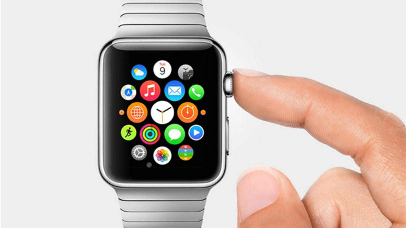 The Apple Watch would detect a change in the wearer's body or in the environment around it and then send a signal to the phone. (File photo)