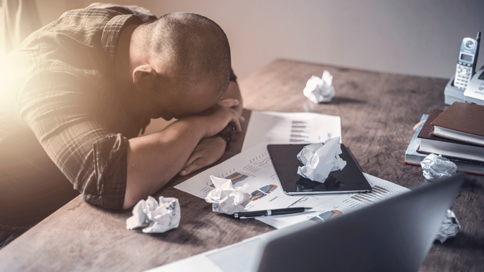 According to Bayt.com's 'Work Satisfaction in the MENA' poll, a whopping 74.1% of professionals in the MENA region are stressed by their jobs, with 34.8% affirming that their stress is ongoing. (Shutterstock)