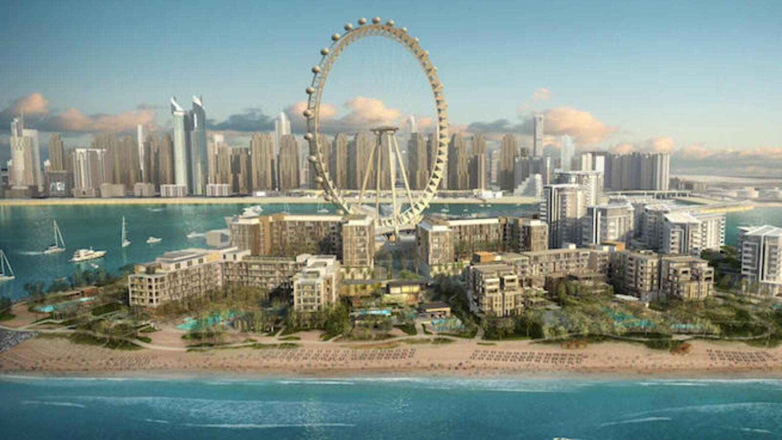 According to a press release from earlier this year, the Caesars Palace Bluewaters Dubai will be the world's second Caesars Palace. (Caesars Entertainment)