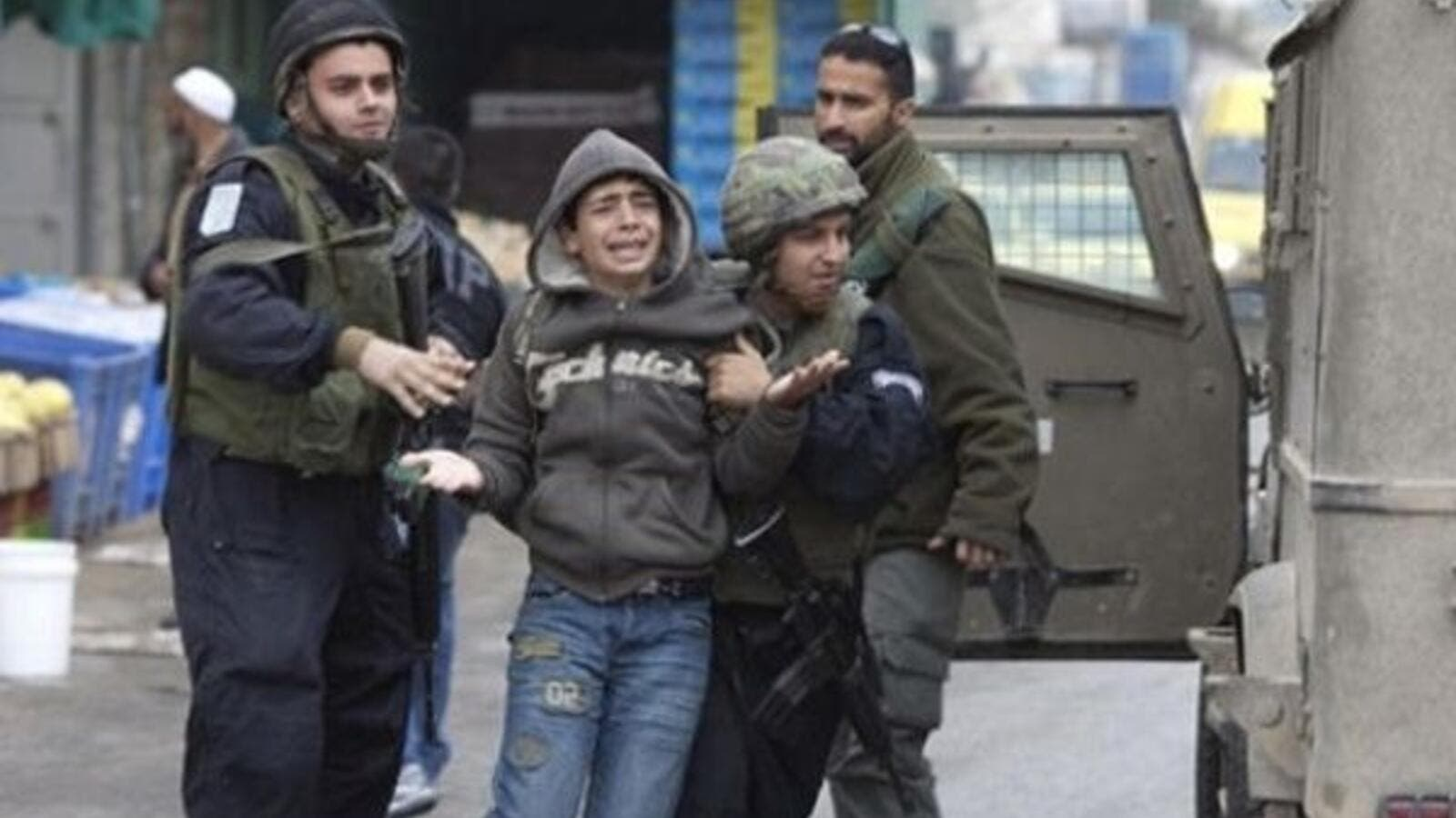 A rights group says more than 300 Palestinian children are currently in prison in Israel and exposed to ill treatment. (AFP)