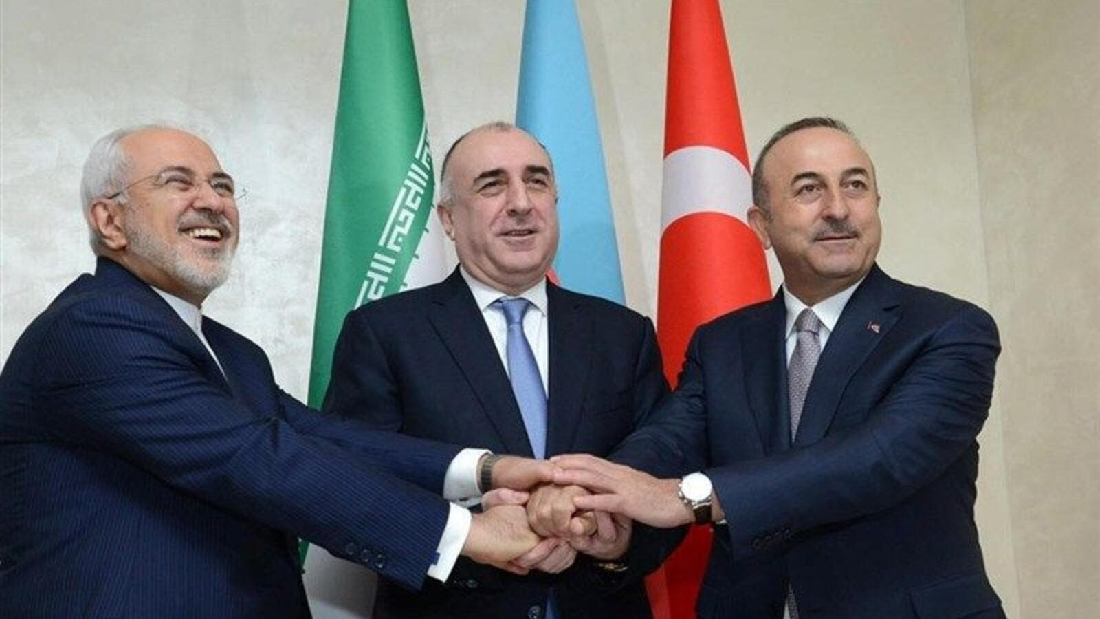 Foreign ministers of Iran, Turkey and the Republic of Azerbaijan held a trilateral meeting in the Turkish city of Istanbul  (Twitter)