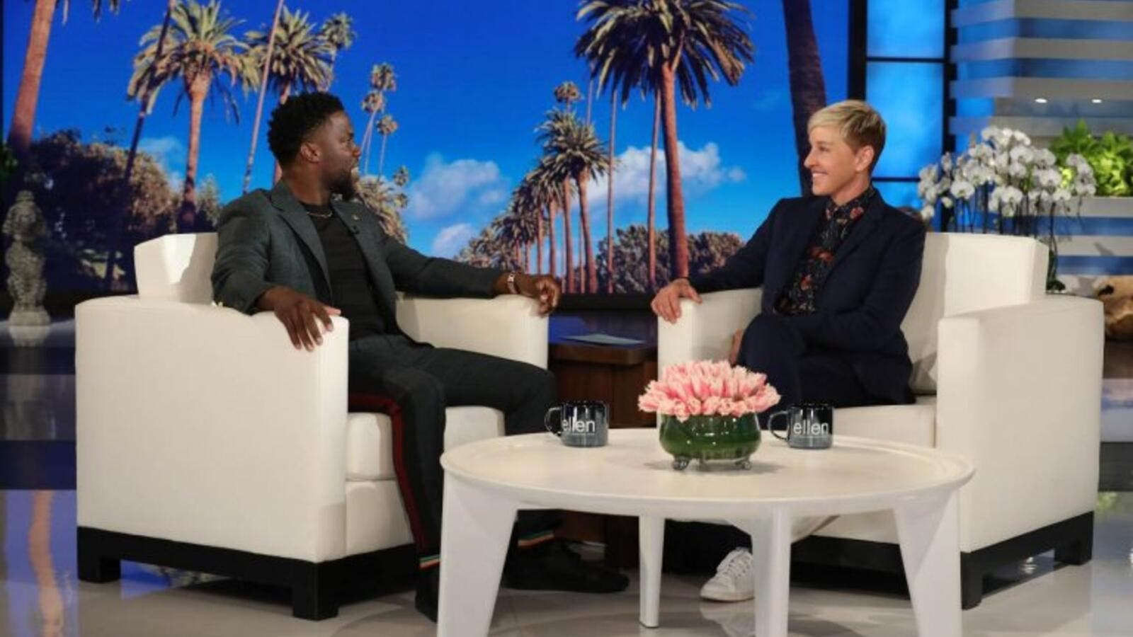 "Kevin Hart says he's ""evaluating"" reprising Oscar host role after Ellen DeGeneres calls Academy (Twitter)"
