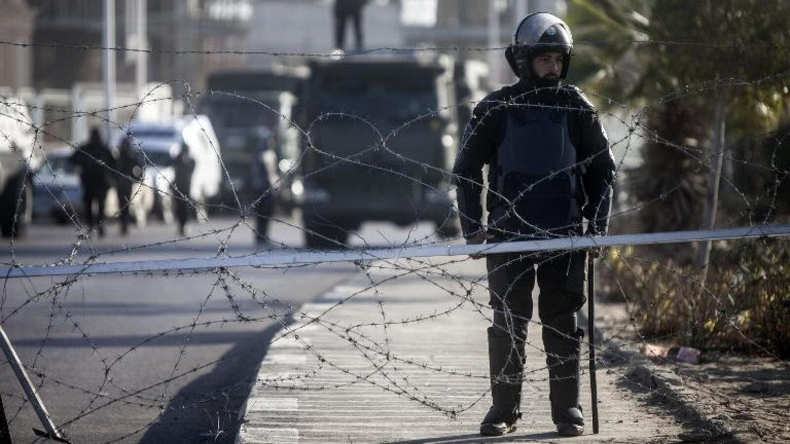 Egyptian riot police are seen on patrol in Cairo. (AFP/File)