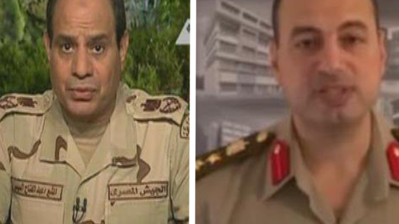 President Abdel Fattah el-Sisi is a former general who, after overthrowing democratically elected Mohammed Morsi in 2013, wore military uniform to announce his candidacy in 2014 (Twitter)