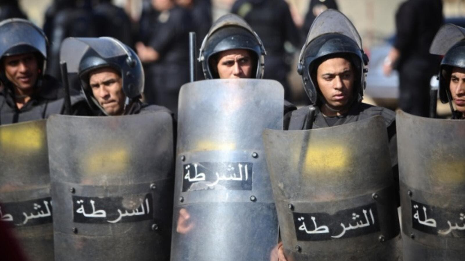 Egypt police stand guard during a rally. (AFP/File)
