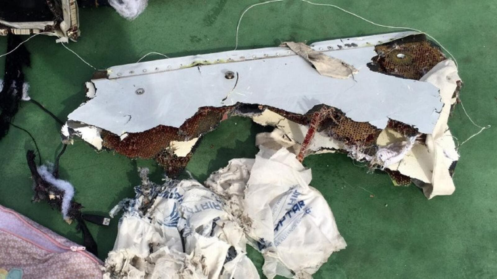 Wreckage from the EgyptAir flight. (AFP/File)
