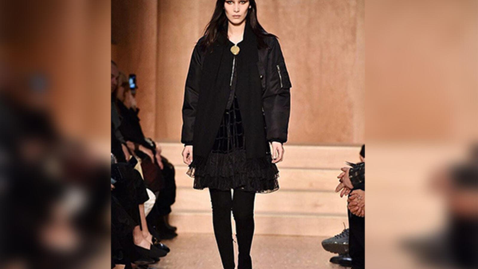 9287f94b Bella Hadid pouts her way through controversy at Givenchy's PFW show ...