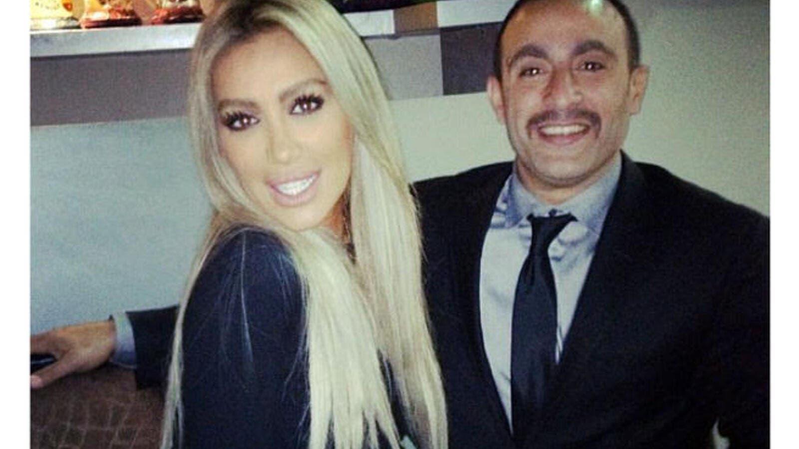Wicked sweet 'stache: Maya Diab posts pic of Ahmad Al Sakka's new