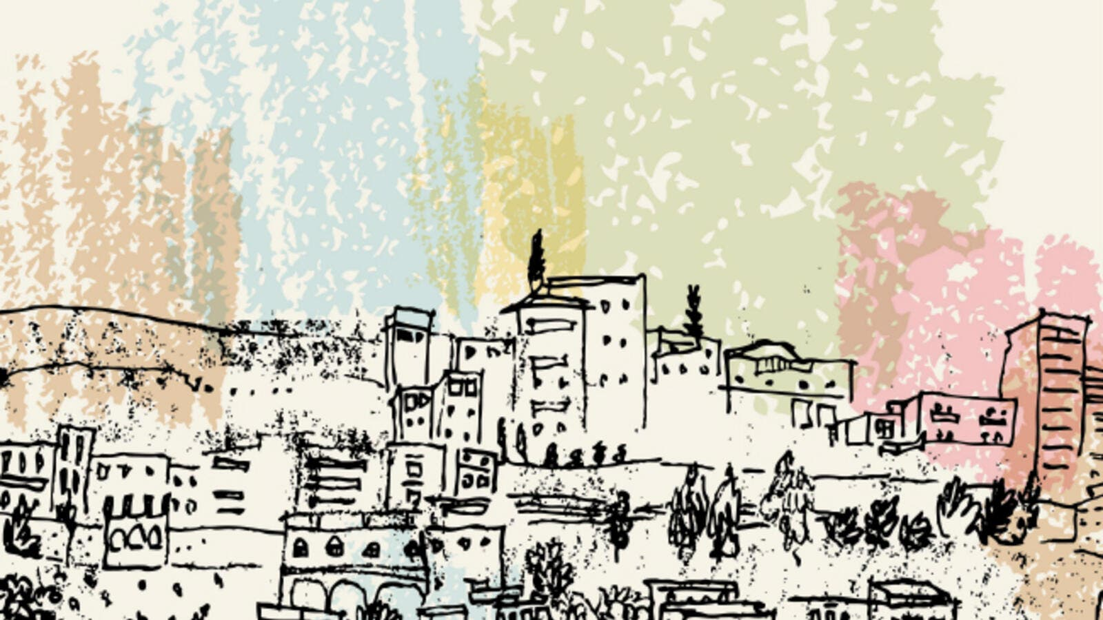 Amman depicted in a drawing. (Babayuka / Shutterstock.com)