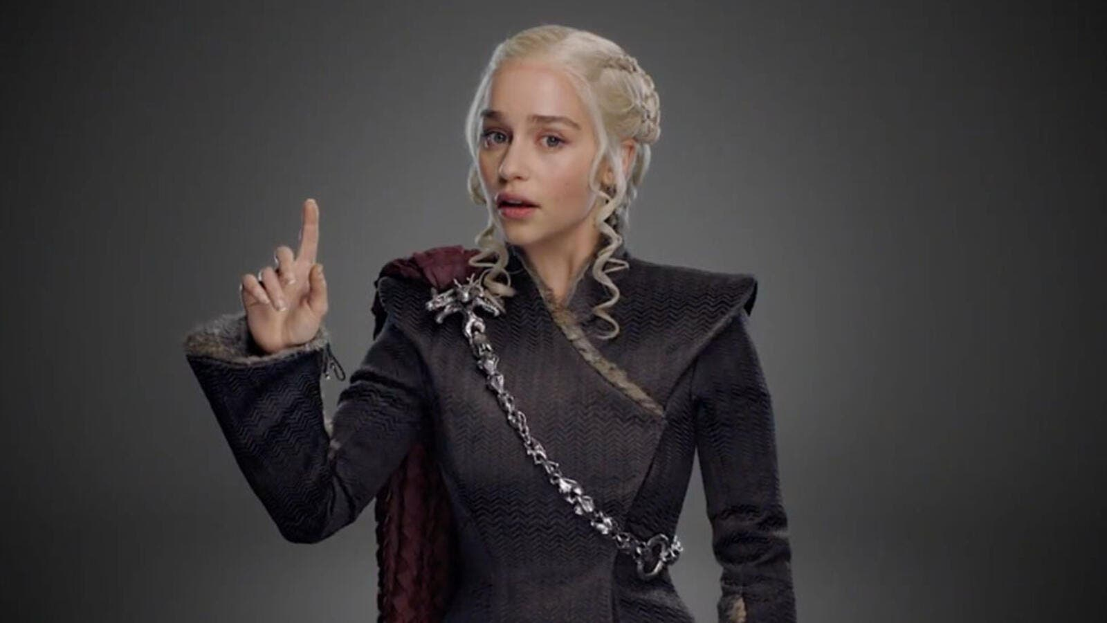 """Hang on,"" says Daenerys, contemplating the size issue. (HBO)"