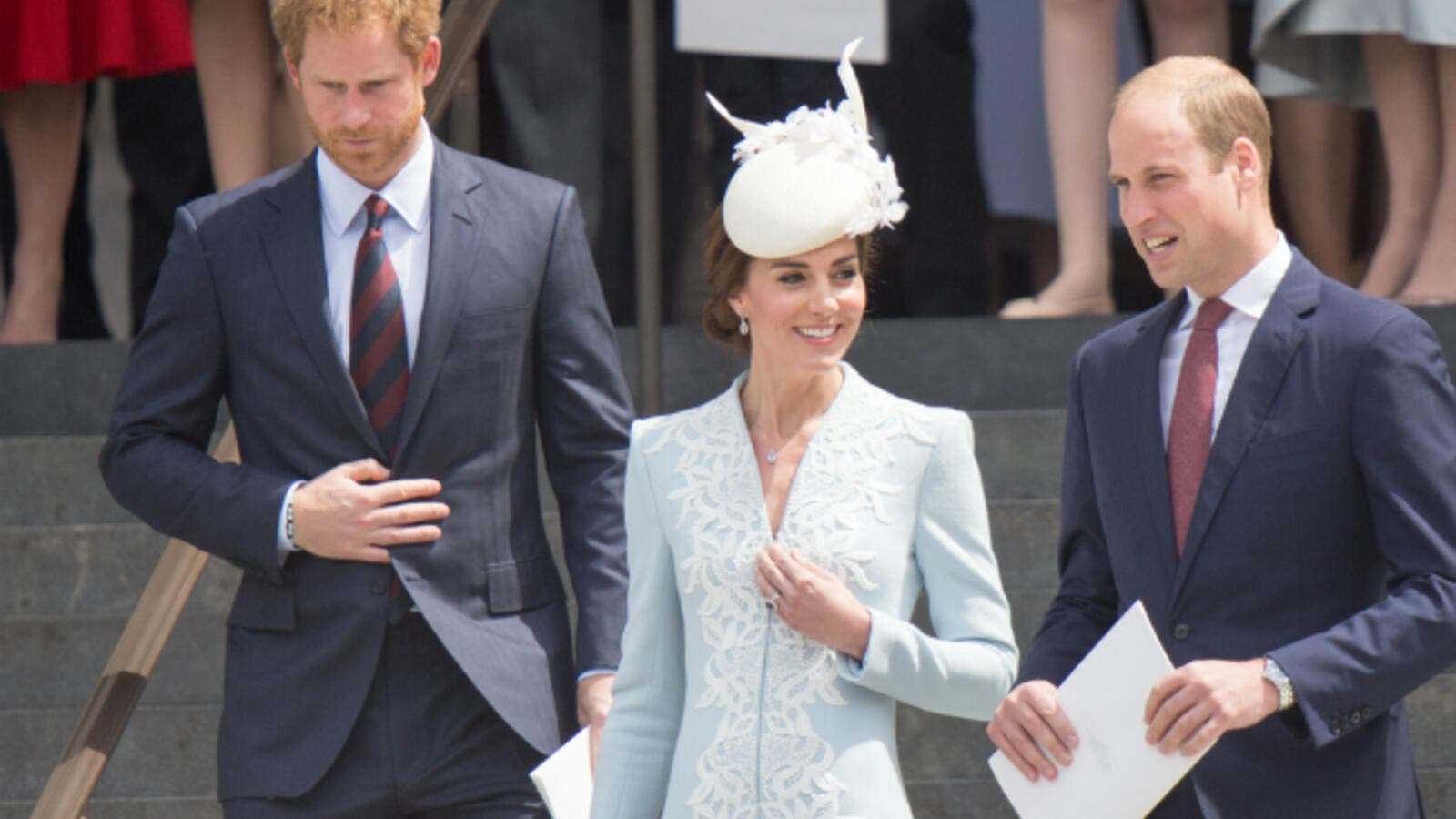 Prince Harry, Duchess Kate Middleton, and Prince William. (Mr Pics / Shutterstock.com)