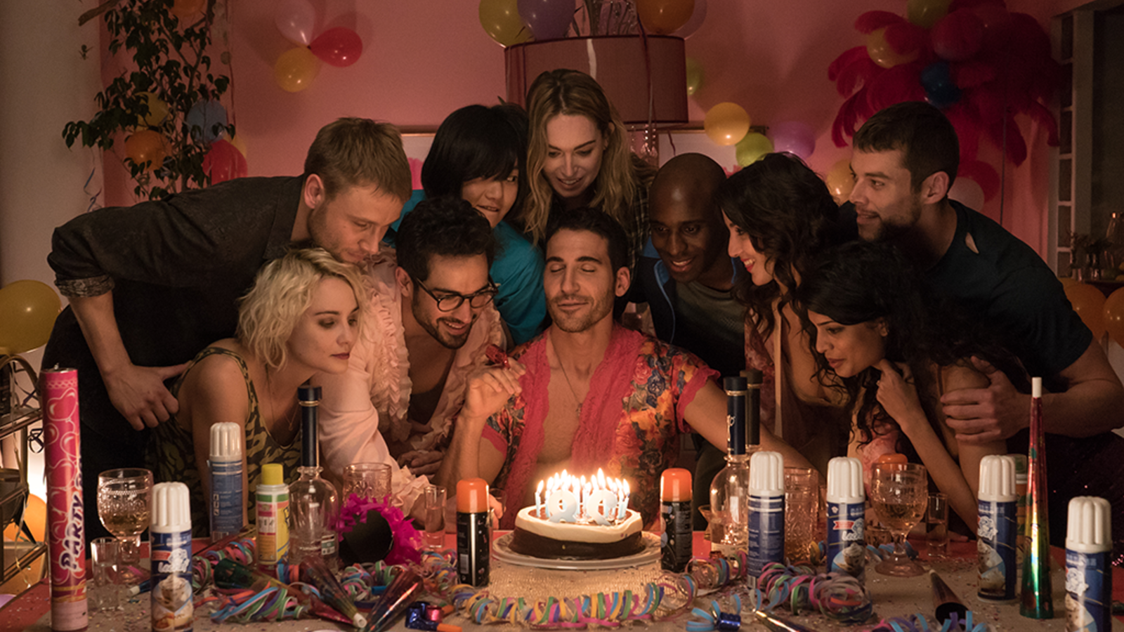 The Sense8 cast in happier times: not sensating their imminent cancellation. (Netflix)