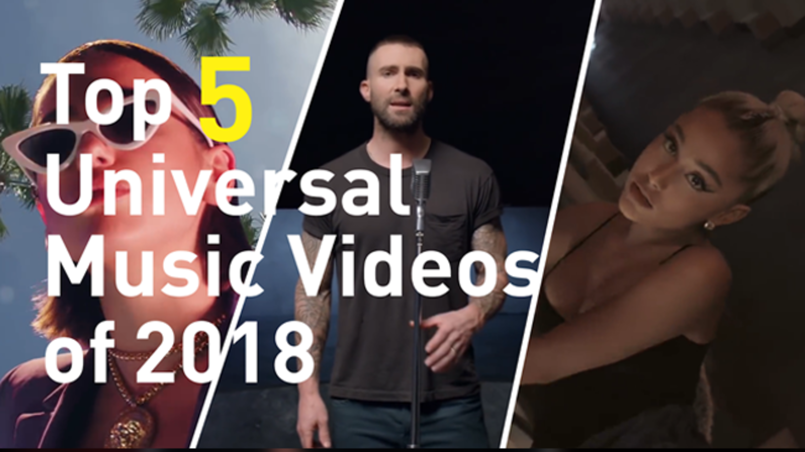 Here are our top 5 picks of universal music videos that were highly viewed and celebrated in 2018.