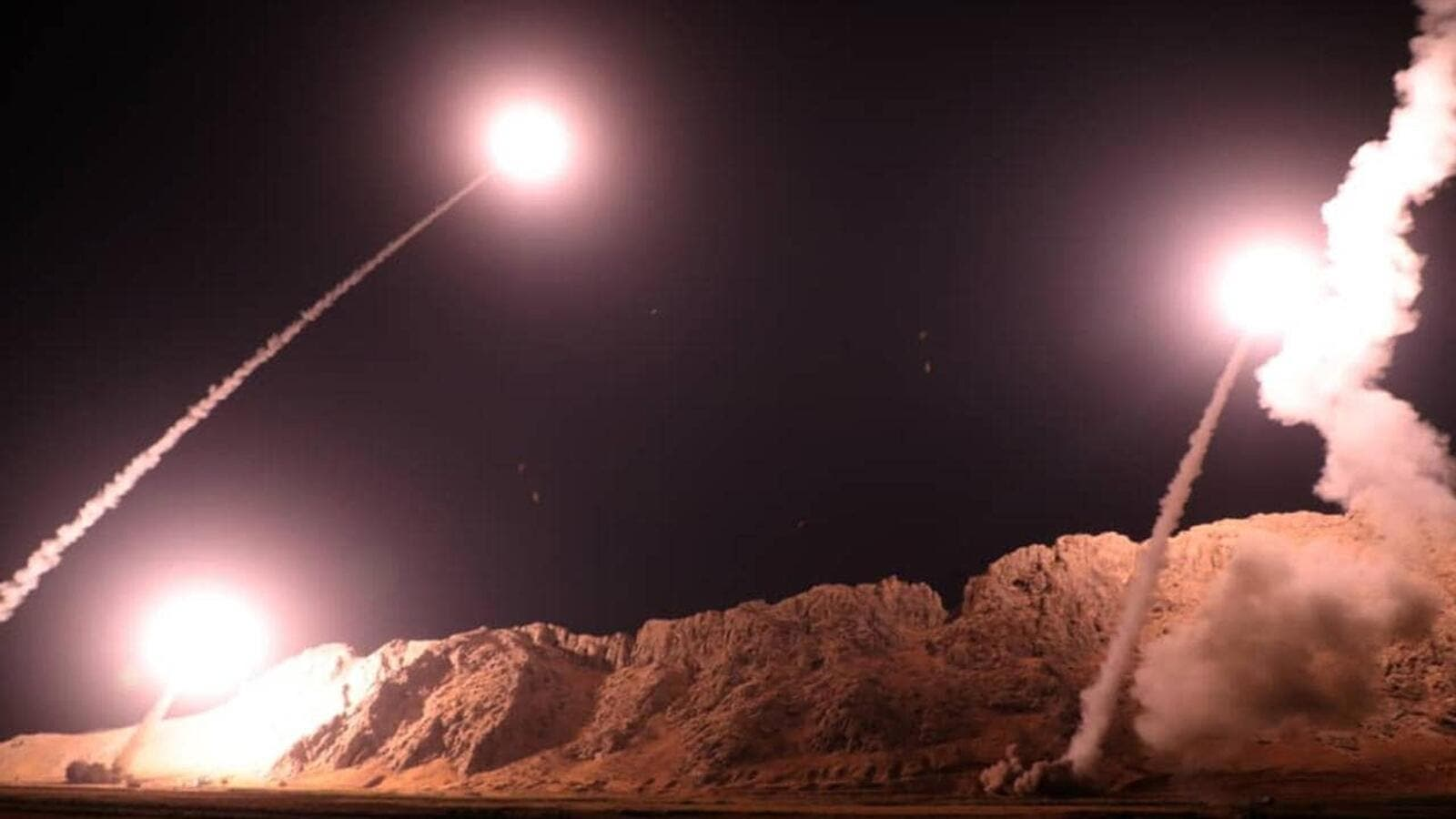 The Iranian Revolutionary Guard lets rip missiles on ISIS positions in Syria. (AFP/File)