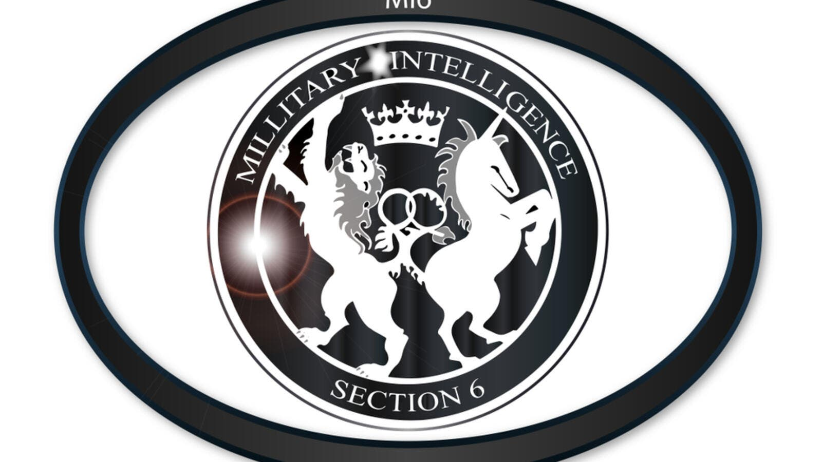 Oval metal button with a depiction of the MI6 horses (Shutterstock/File Photo)