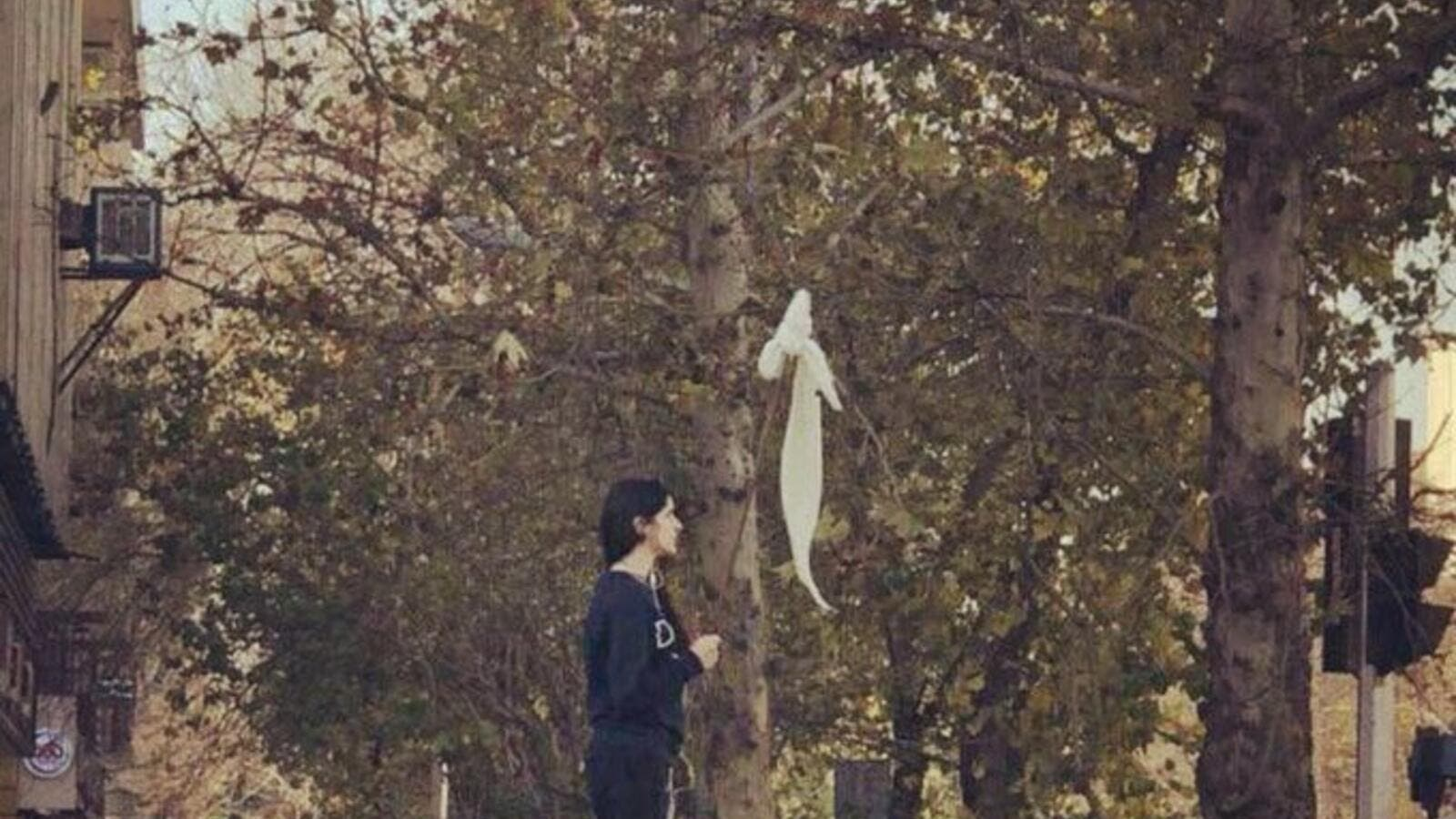 "She was labeled a ""symbol of defiance,"" but now the Iranian activist who waved her hijab in protest last month has reportedly gone missing (Twitter)"
