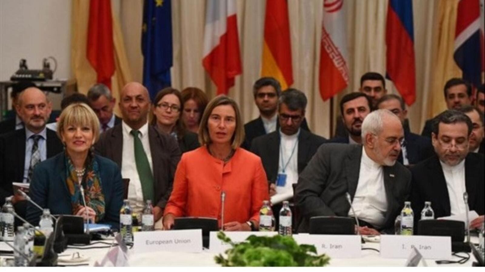 Britain, France and Germany along with Russia and China met with Iran in Vienna to offer economic benefits and assurances that would lessen the blow of sweeping US sanctions announced by Trump. (AFP)