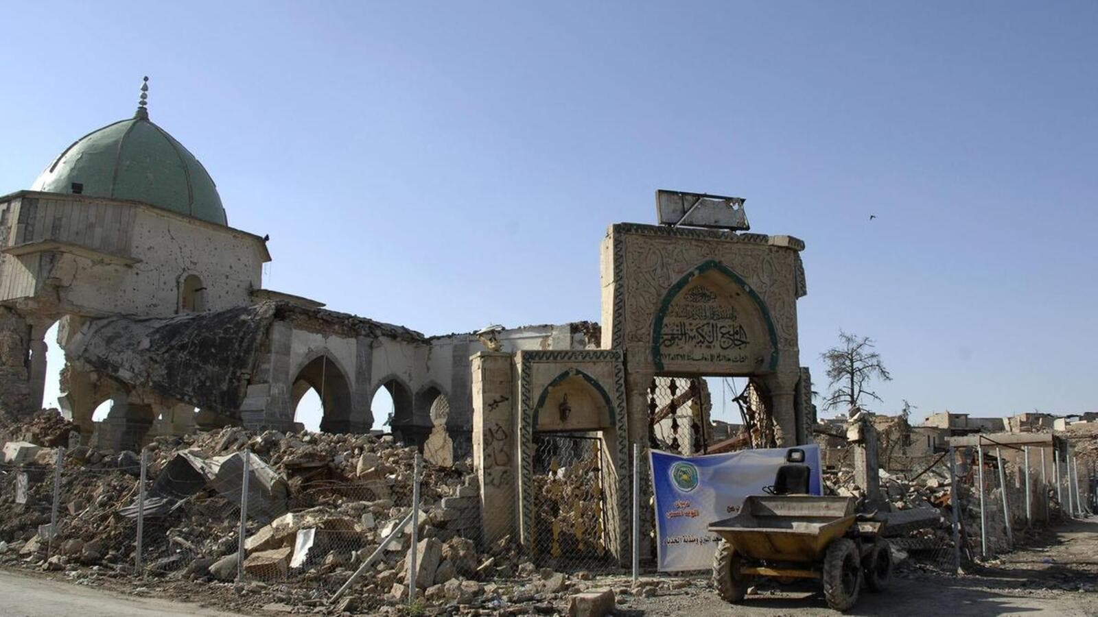 Great Al Nuri Mosque, which was destroyed by ISIS, is to be rebuilt by UAE and UNESCO. (APF/ File Photo)