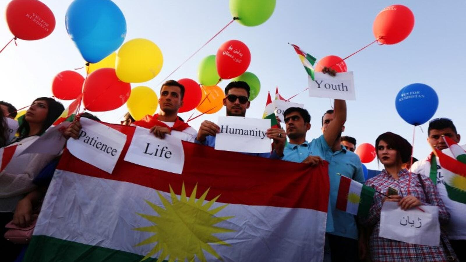 "Iraqi Kurds announced an overwhelming ""yes"" for independence on Wednesday following a referendum that has incensed Baghdad (Safin Hamed/AFP)"