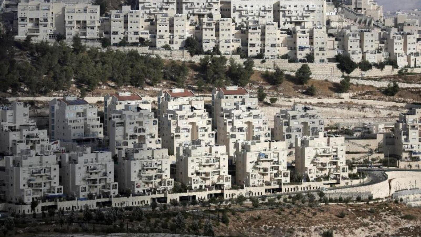 A view of a Jewish-only settlement built in the West Bank. (AFP/File)