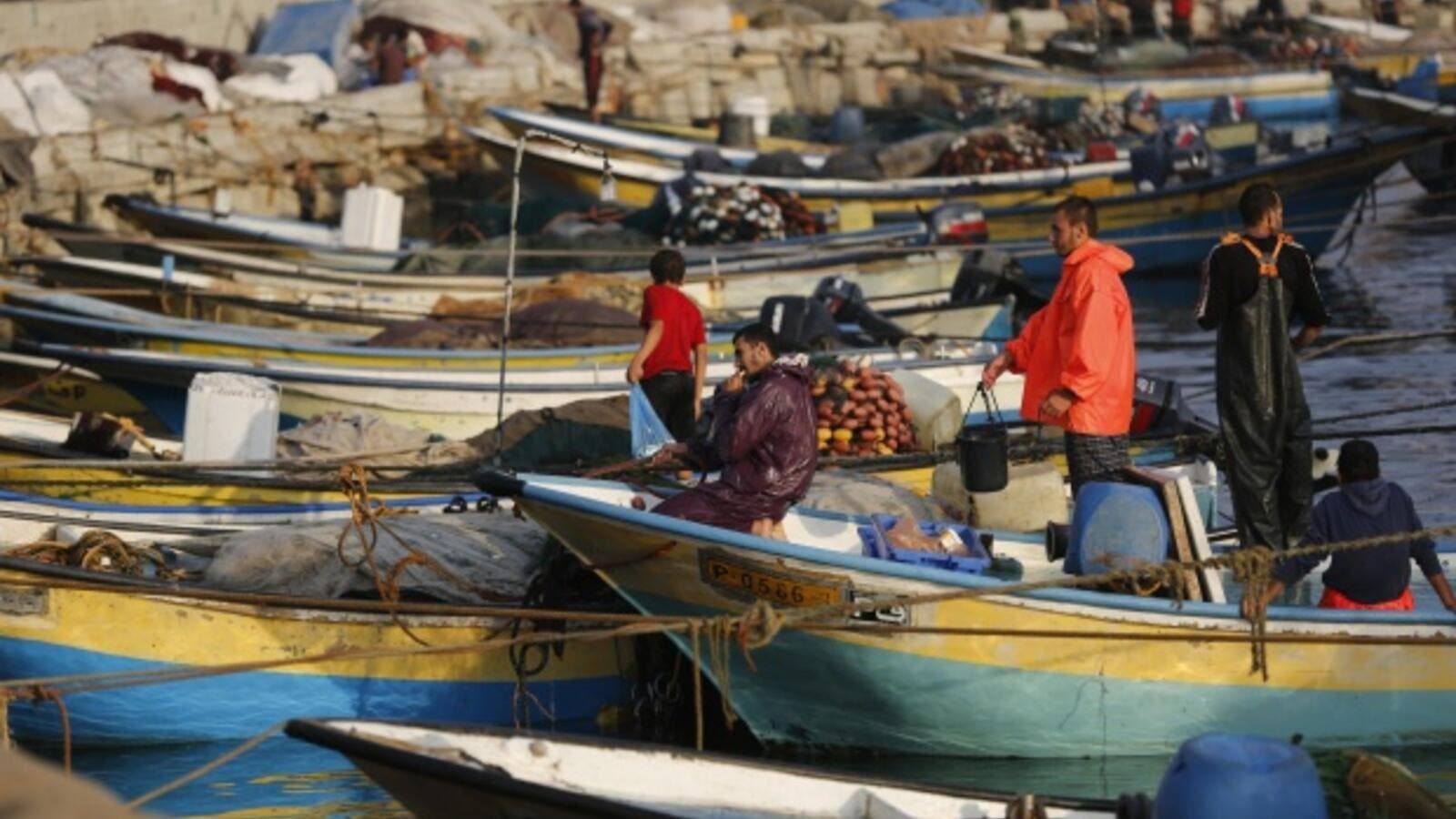 Fisherman in Gaza (AFP/File Photo)