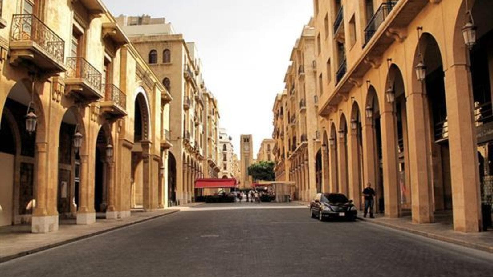 A deserted street in downtown Beirut. (Wikimedia Commons)