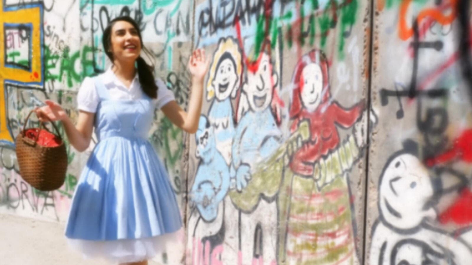 "In a first-of-its-kind production Palestinian artist Lina Sleibi has joined forces with European producer Johno to put out an inspiring Arabic cover version of classic film ballad ""Over The Rainbow"" from The Wizard of Oz . (Source: Mastermind Promotion)"