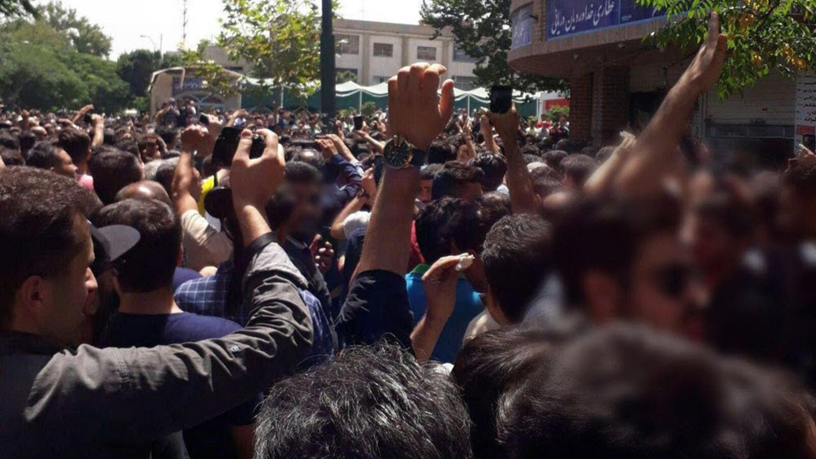 Iranians have been going on protests for three consecutive days without any local media coverage on the topic. (Twitter)