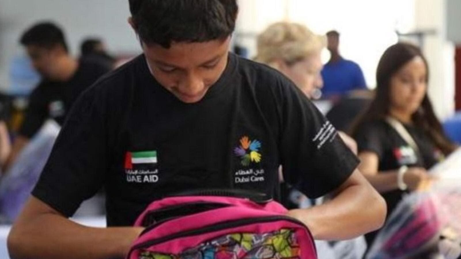 The school kits will be distributed to students from low-income families. (Khaleej Times)