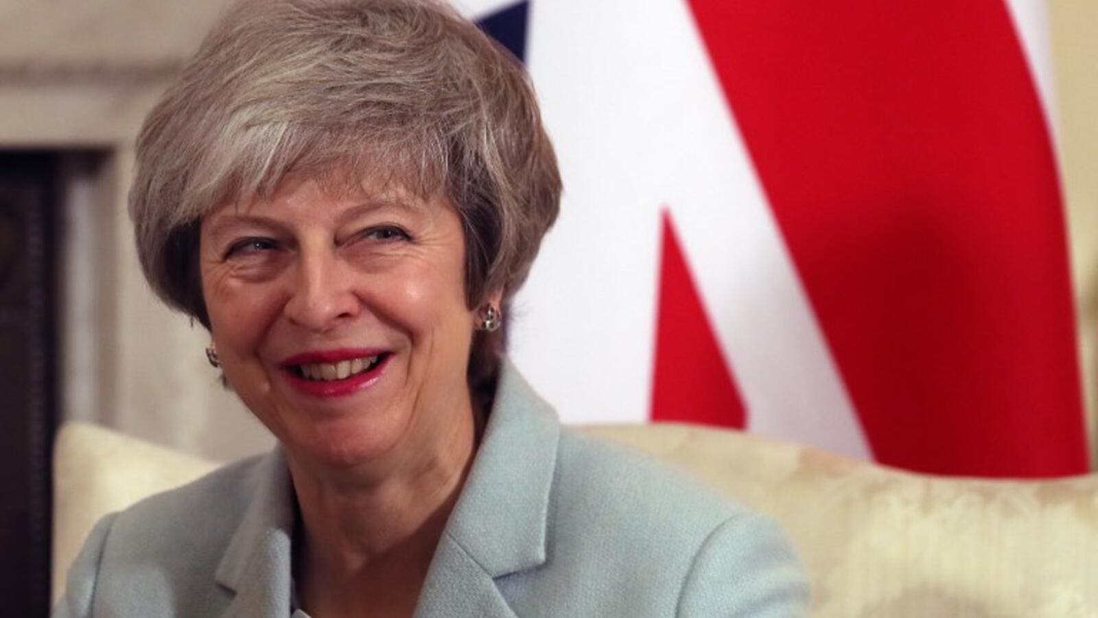 Britain's Prime Minister Theresa May reacts during her meeting with Malta's Prime Minister Joseph Muscat inside 10 Downing Street in central London, on February 11, 2019. (AFP / File Photo)