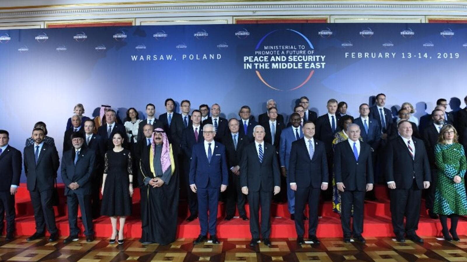 The conference on Peace and Security in the Middle east in Warsaw, on February 13, 2019. (Janek SKARZYNSKI / AFP)