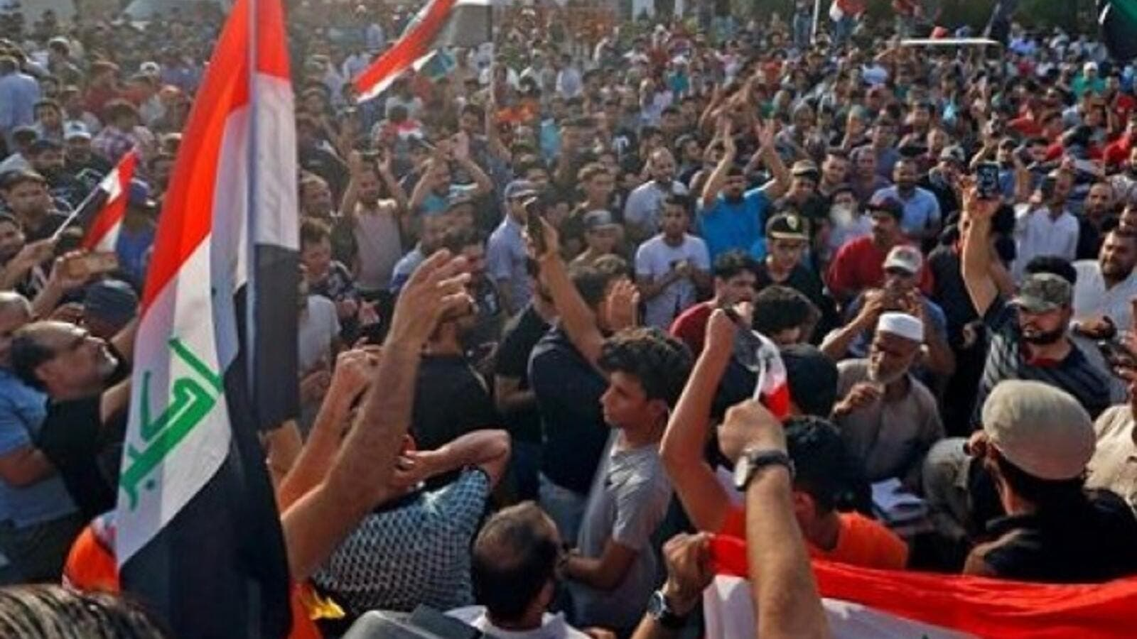Iraqi Protesters demonstrate against unemployment. (AFP/File)
