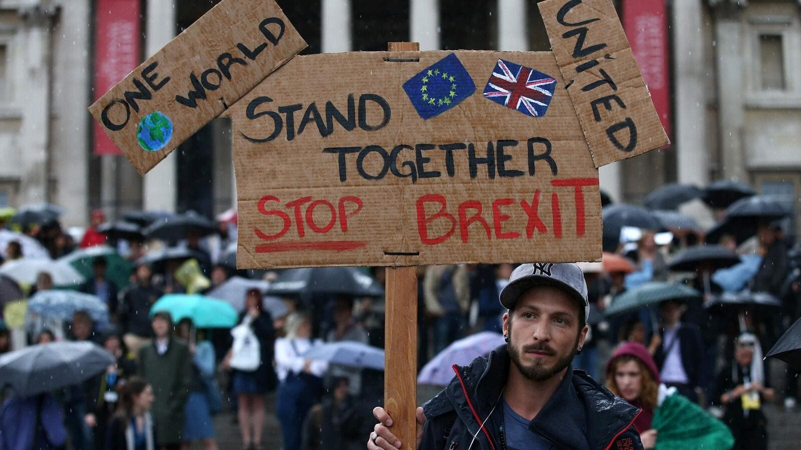An anti-Brexit protest at Trafalgar Square in central London. (AFP/ File)