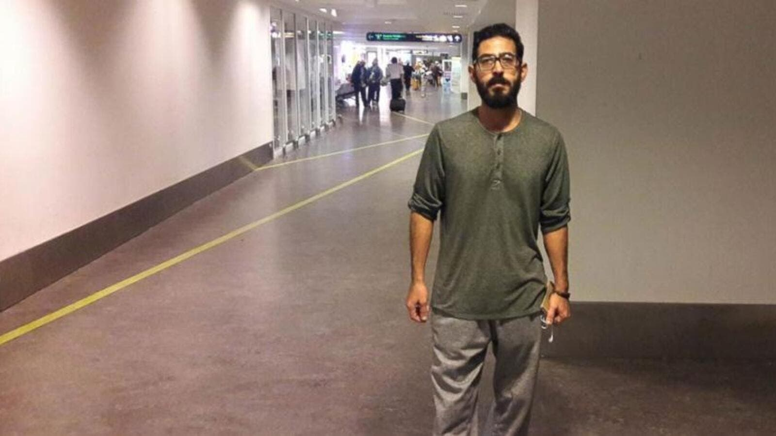 Hassan al-Kontar was stranded at a Malaysian airport for months. (Hassan al-Kontar)