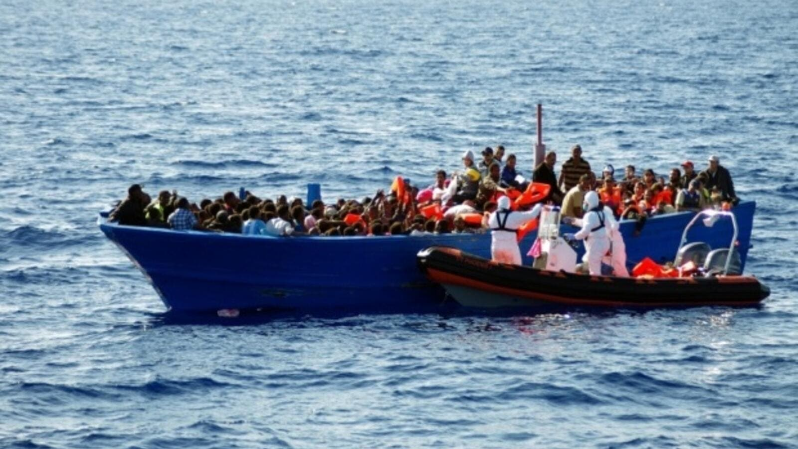 A file photo of a boat smuggling African refugees in the Mediterranean Sea. (AFP/File)