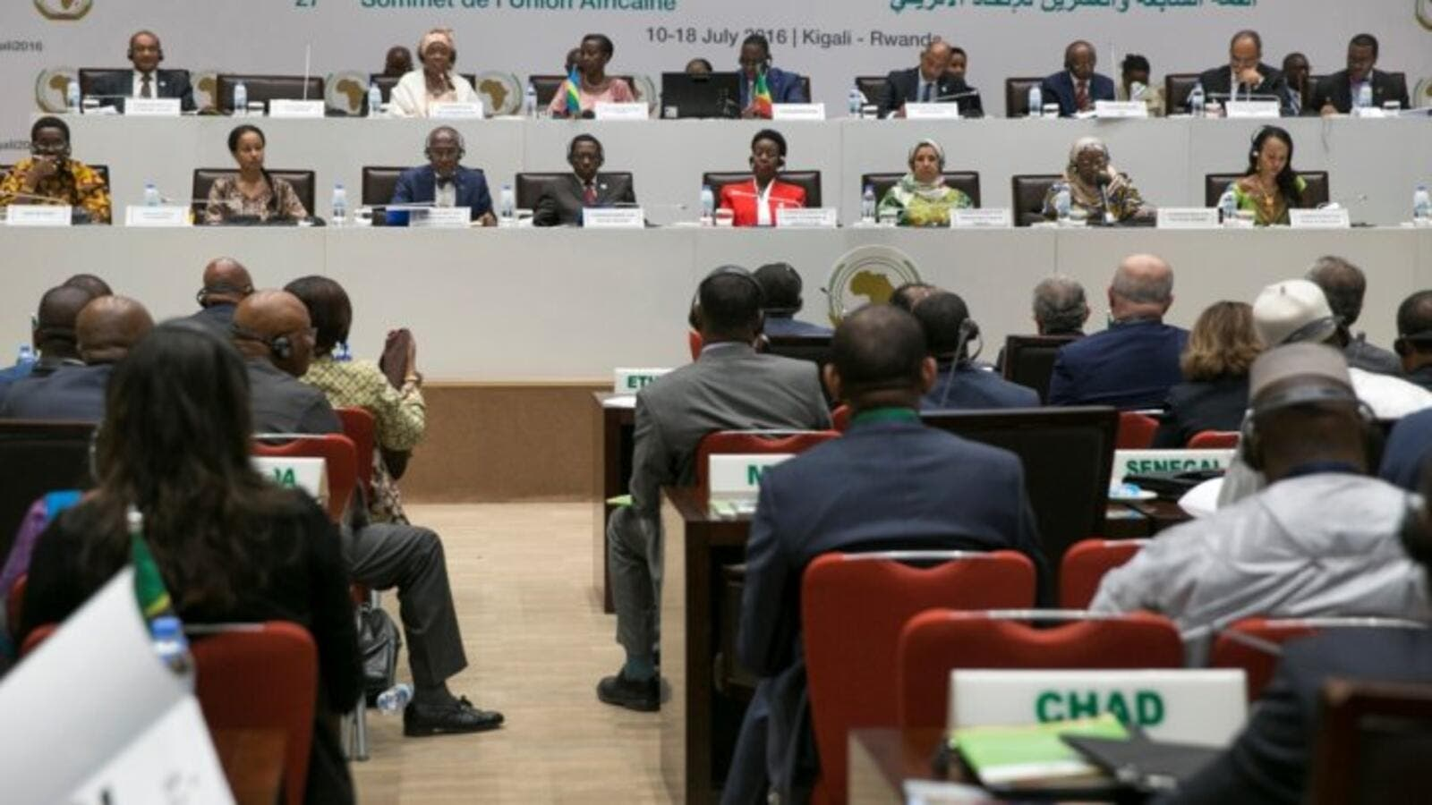 Politicians attend a meeting of the African Union's (AU) economic development program New Partnership for Africa's Development (NEPAD). (AFP/File)