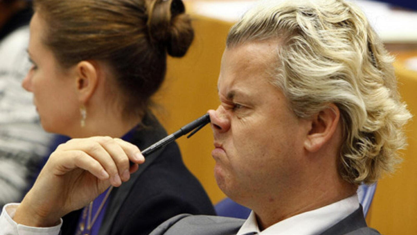 Dutch politician Geert Wilders in 2009: Not only is the man racist but he's unsophisticated too! (AFP/Marcel Antonisse)