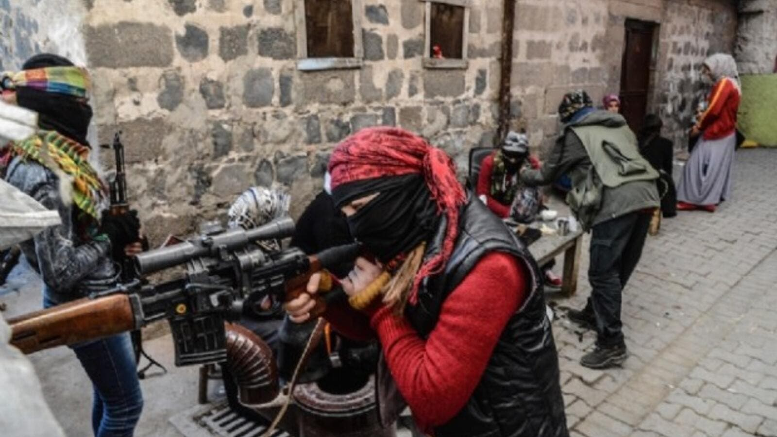 Kurdistan Workers Party (PKK) militants in Diyarbakir, Turkey. (AFP/File)