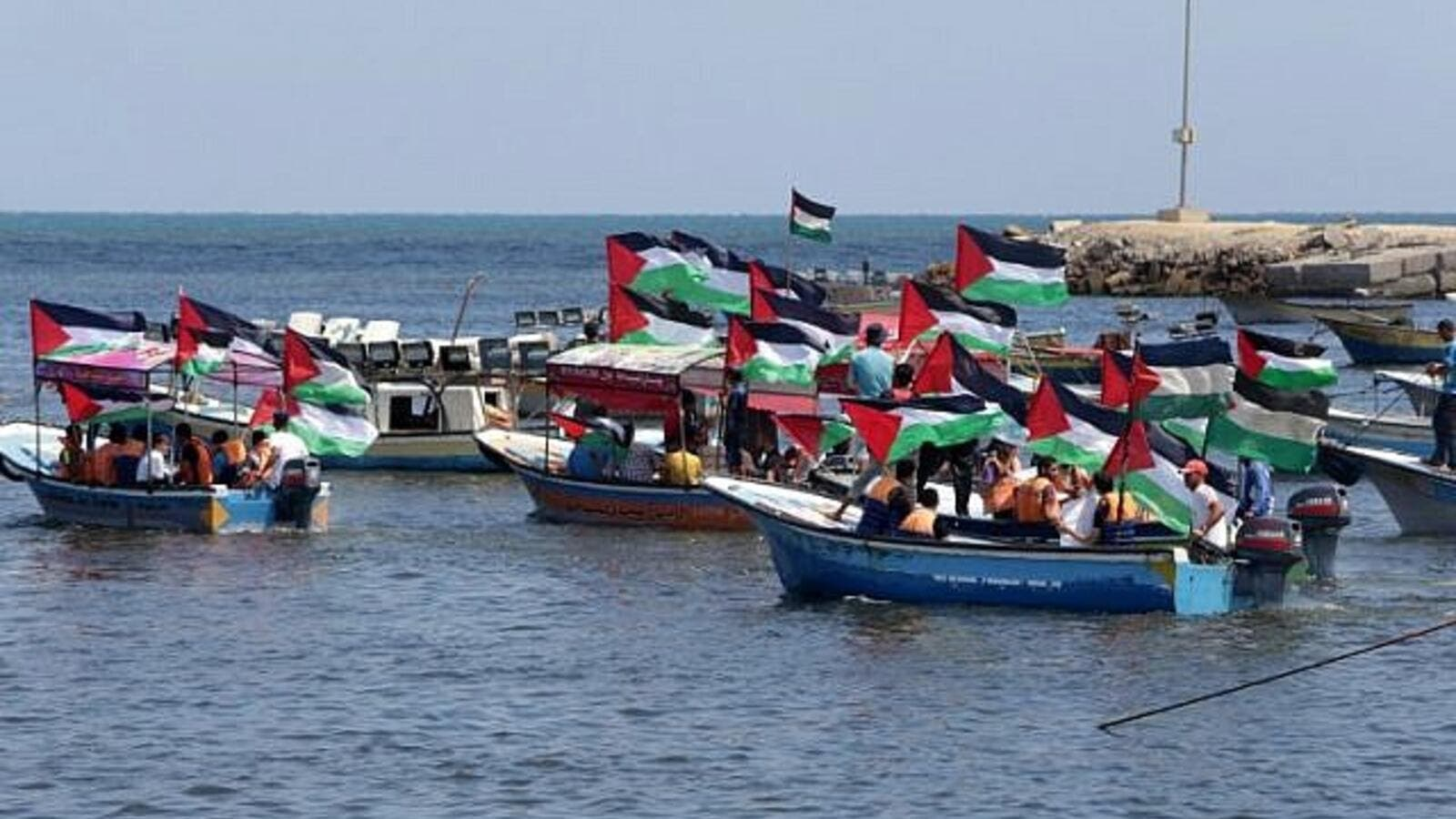 Palestine releases 2nd humanitarian flotilla from Gaza tomorrow hoping to break Israel's 11-year blockade. (AFP/ File)