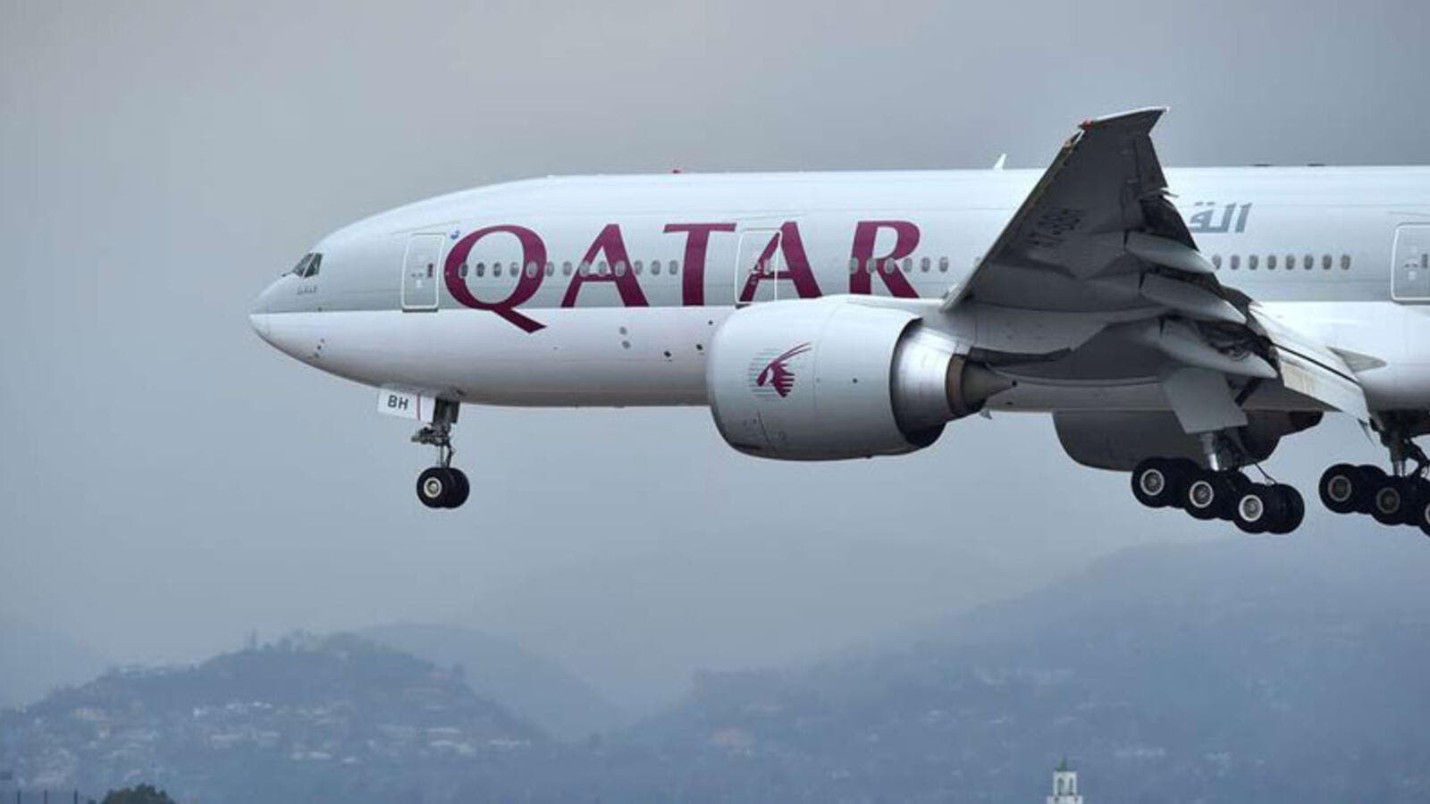 A Qatar Airways aircraft about to landing in an International Airport. (AFP/ File Photo)