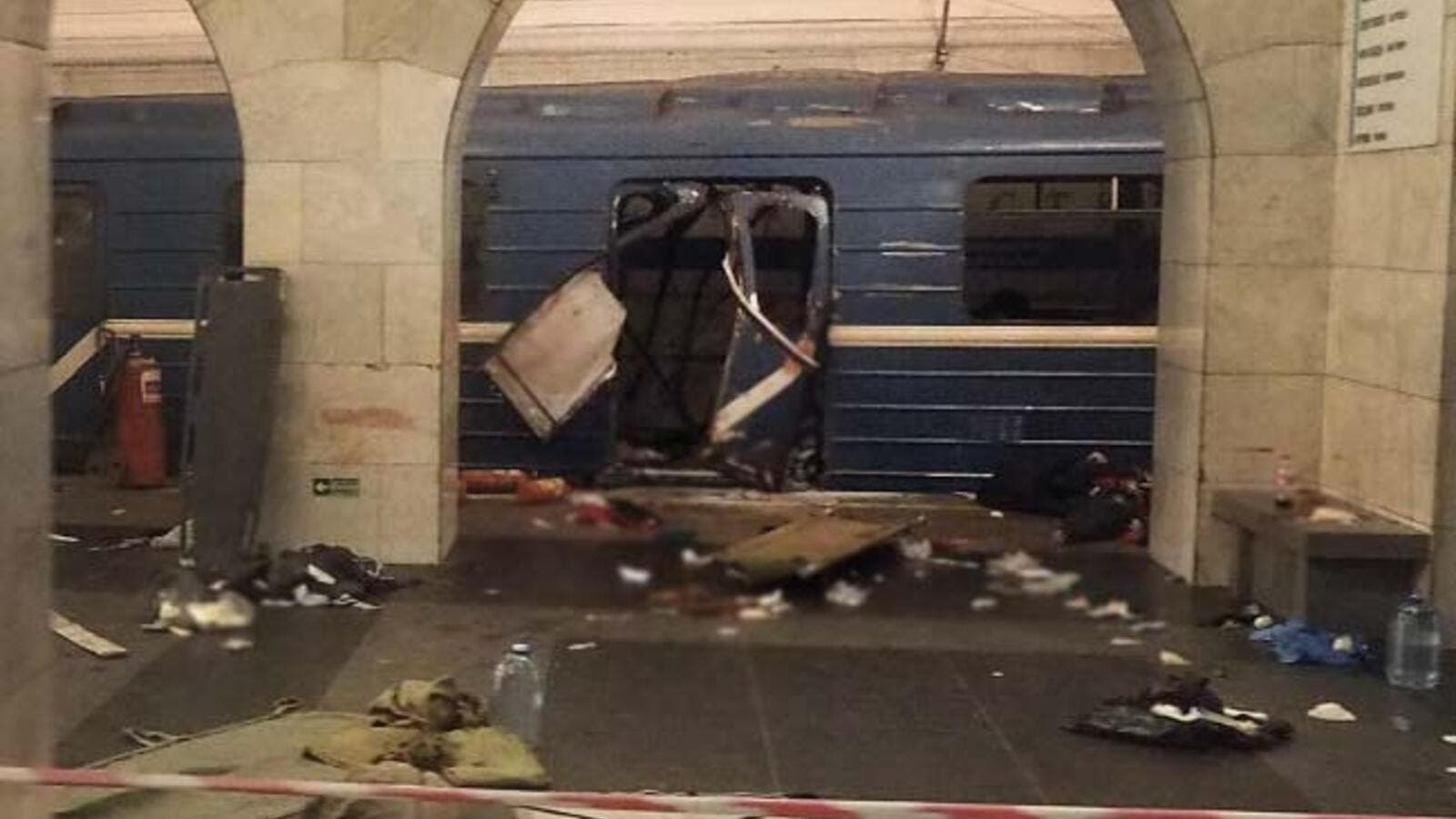 The site of the April 3 blast on the St Ptersburg metro. (AFP/file)