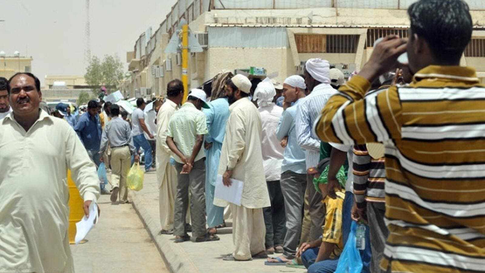 Saudi Arabia hopes to see at least 1 million foreign workers leave the country during this year's three-month grace period. (AFP/File)