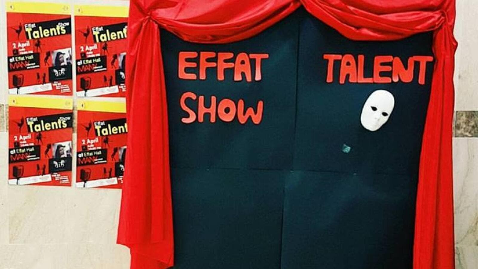 Saudi students made a university talent show, and some were outraged by the event (Facebook)