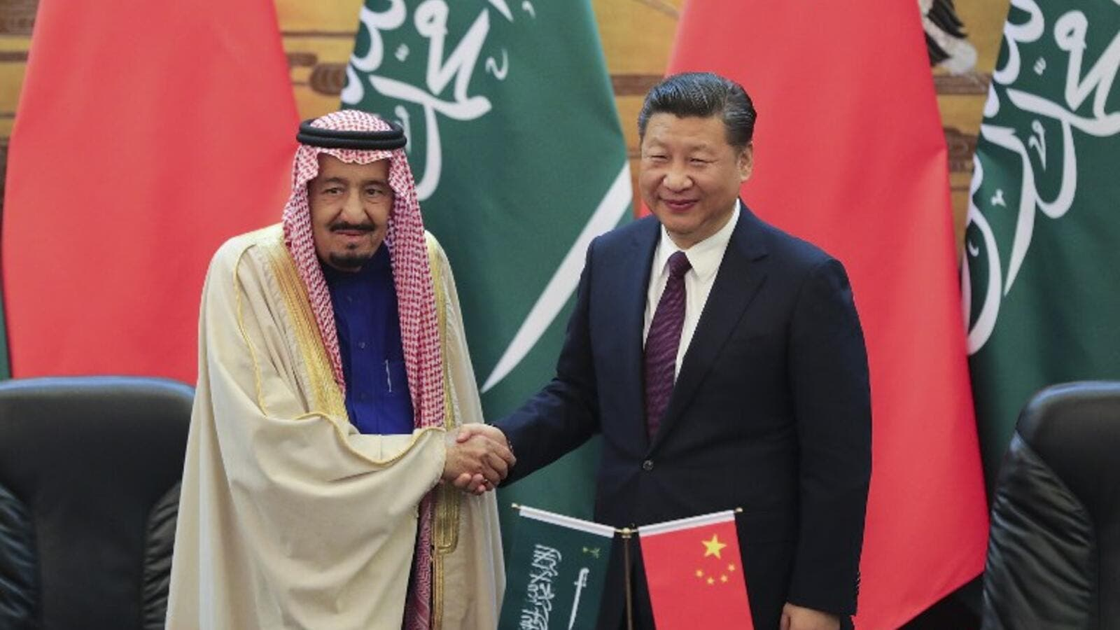 The agreements between Saudi Arabia and China will cover a variety of issues, ranging from energy to space technology. (AFP/Lintao Zhang)