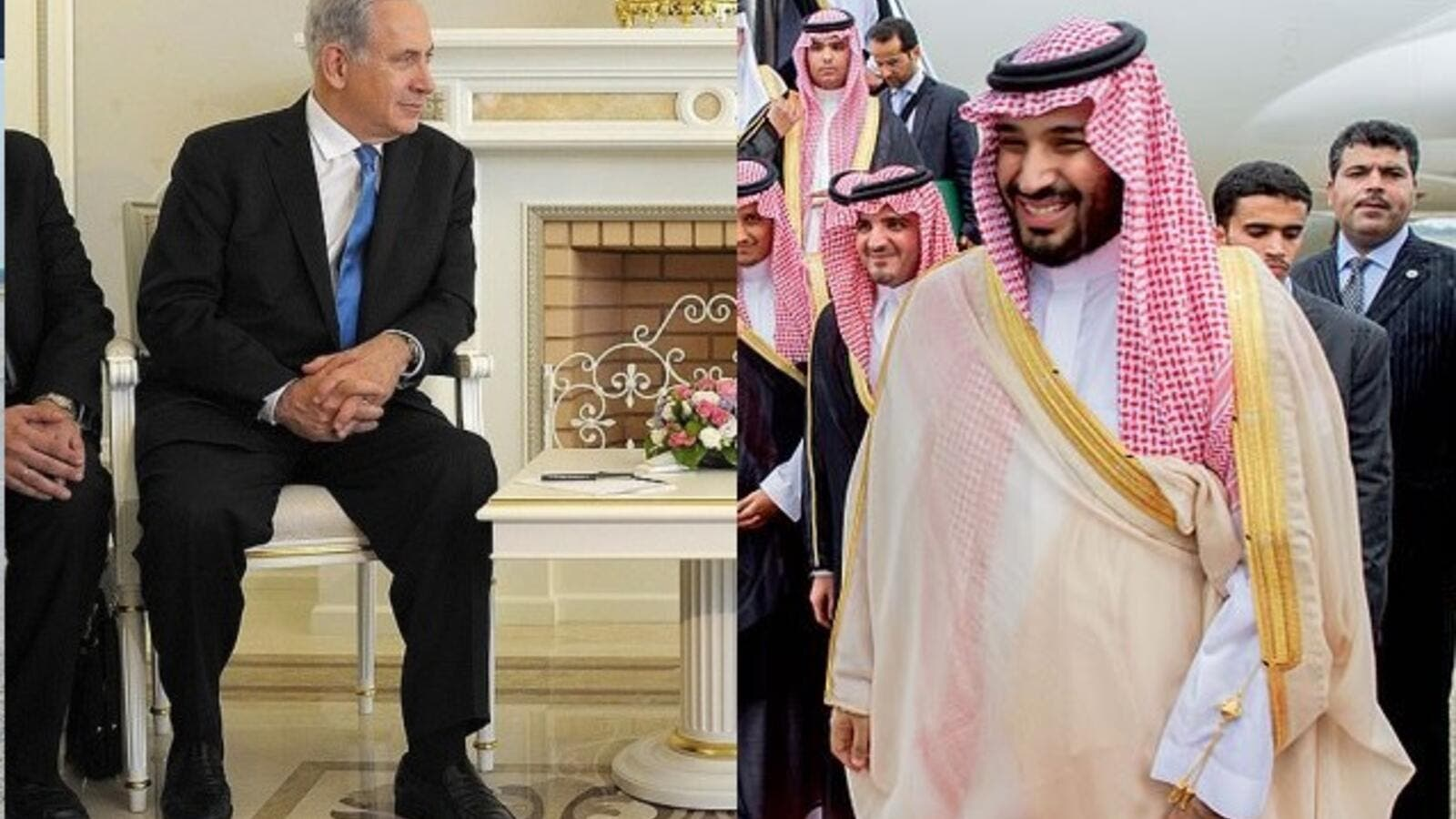 There are currently no diplomatic relations between Israel and Saudi Arabia. Could that be about to change? (Left: the Kremlin, Right: Wikimedia Commons)