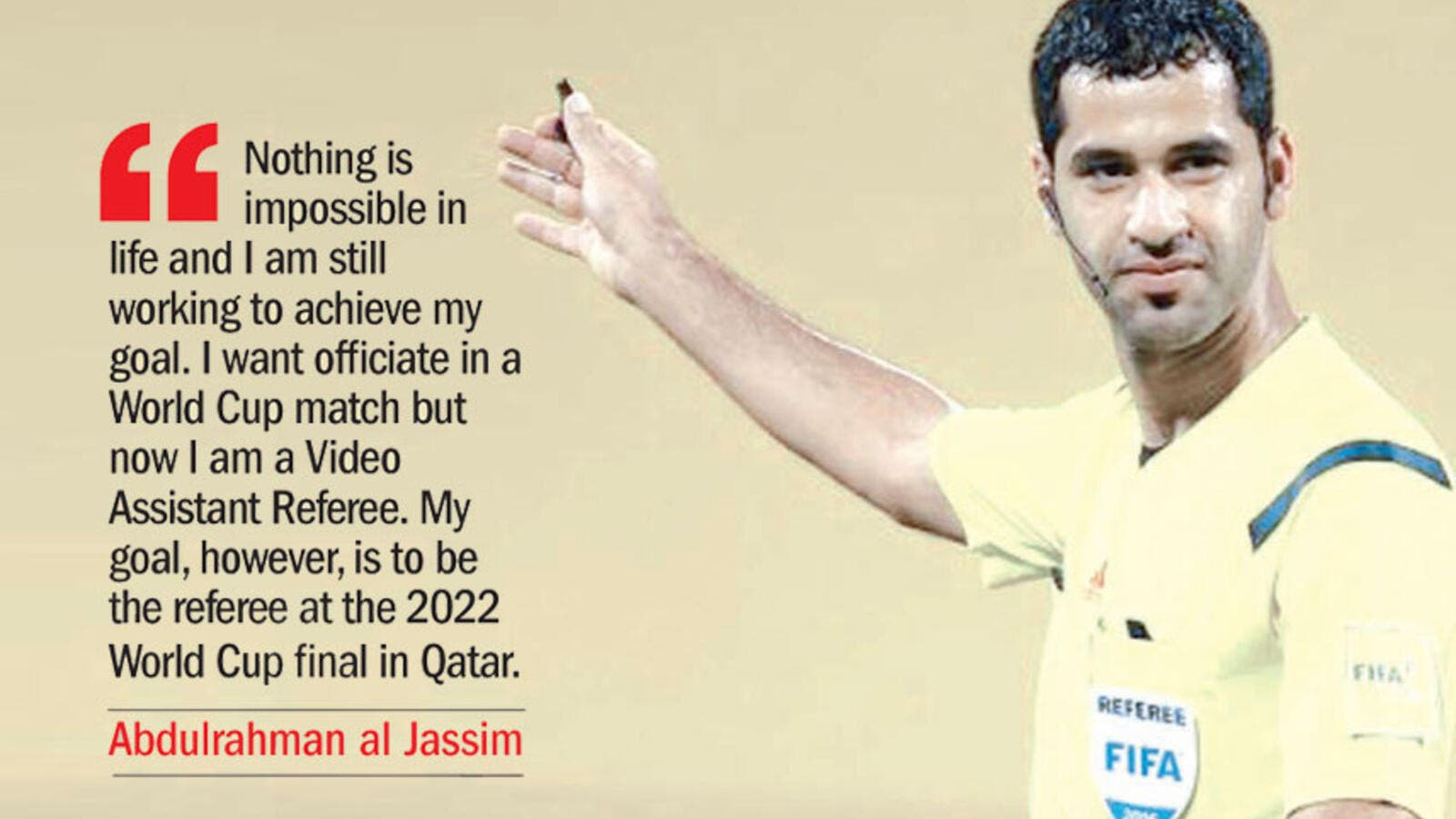 Qatari referee Abdulrahman al Jassim (Photo: Qatar Tribune)