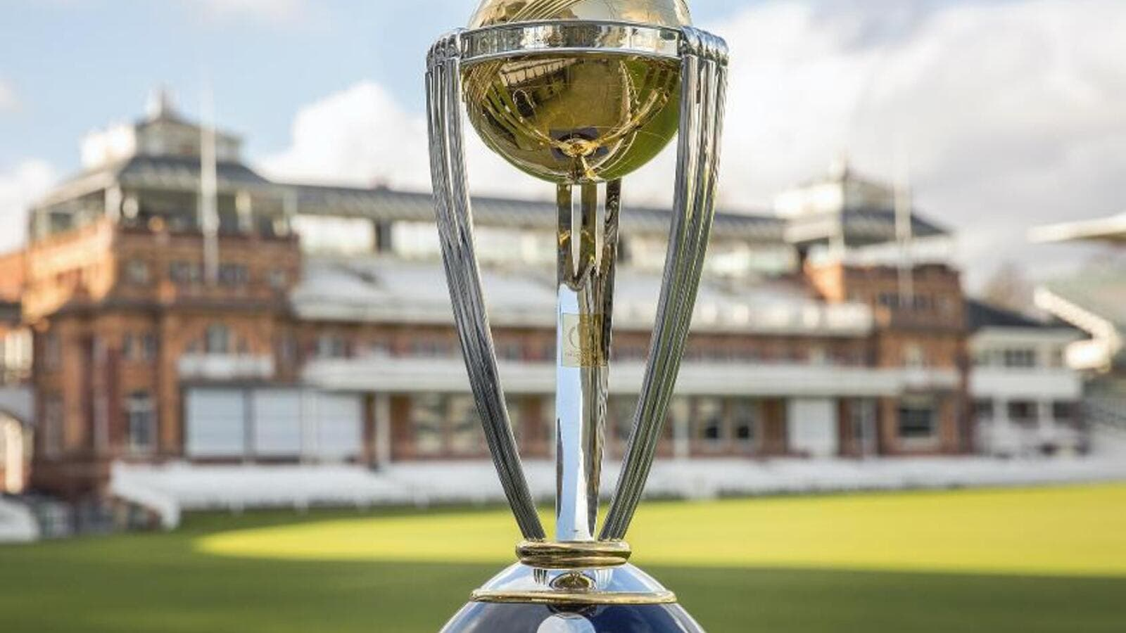 The ICC Cricket World Cup trophy