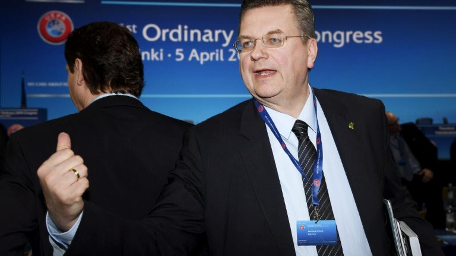 President of the German Football Association (DFB) Reinhard Grindel