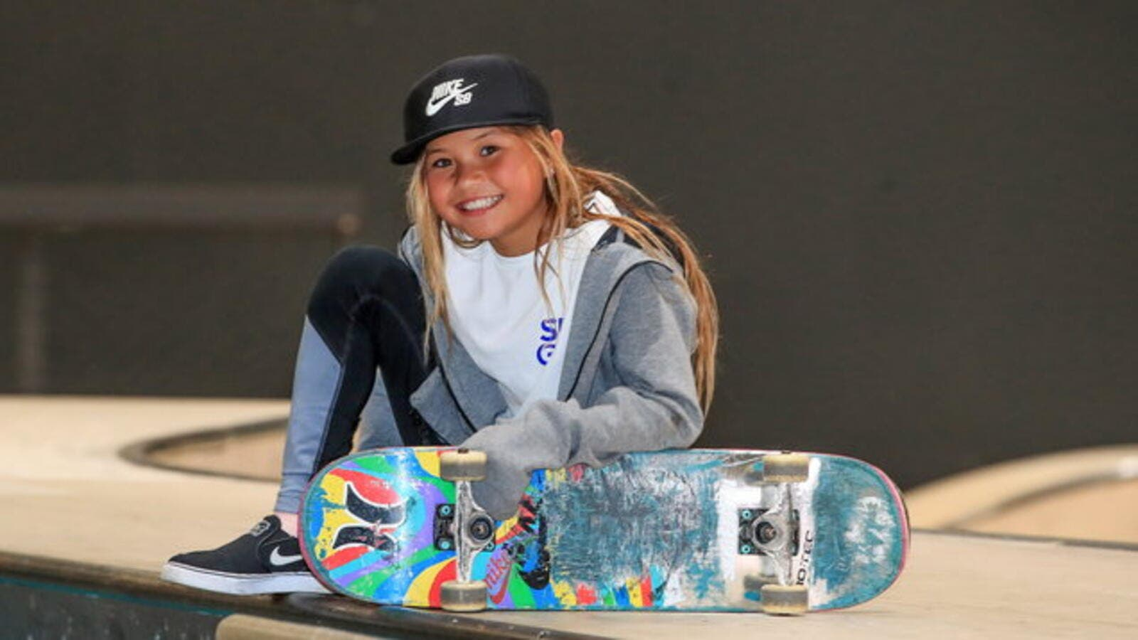 Brown, youngest professional skateboarder will be 12 at start of Tokyo Games in 2020 (Photo: virginmediatelevision)