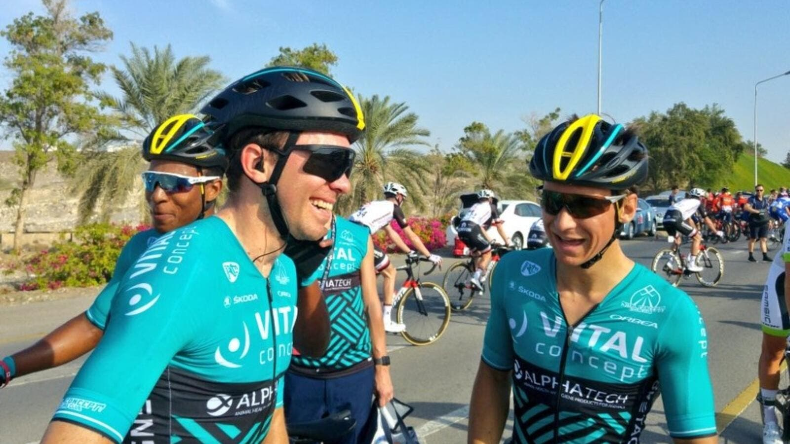 Vital Concept's French sprinter Bryan Coquard came out on top at the end of first stage of the Tour of Oman. (Photo: TOO)